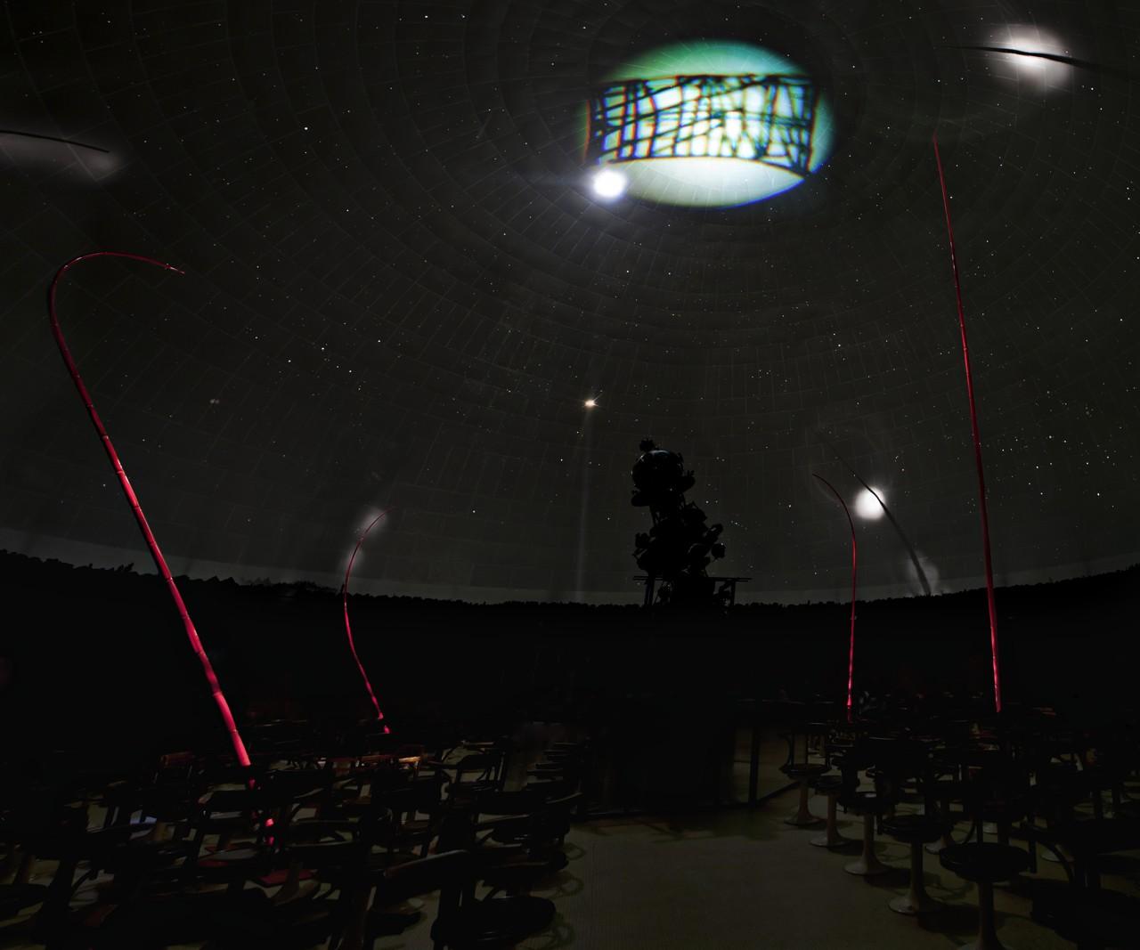 Marco Bagnoli, Rotazione apparente, 2011. Civico Planetario Ulrico Hoepli, Milano 2011.